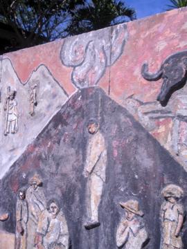 El Salvador Mural at Civil War Memorial