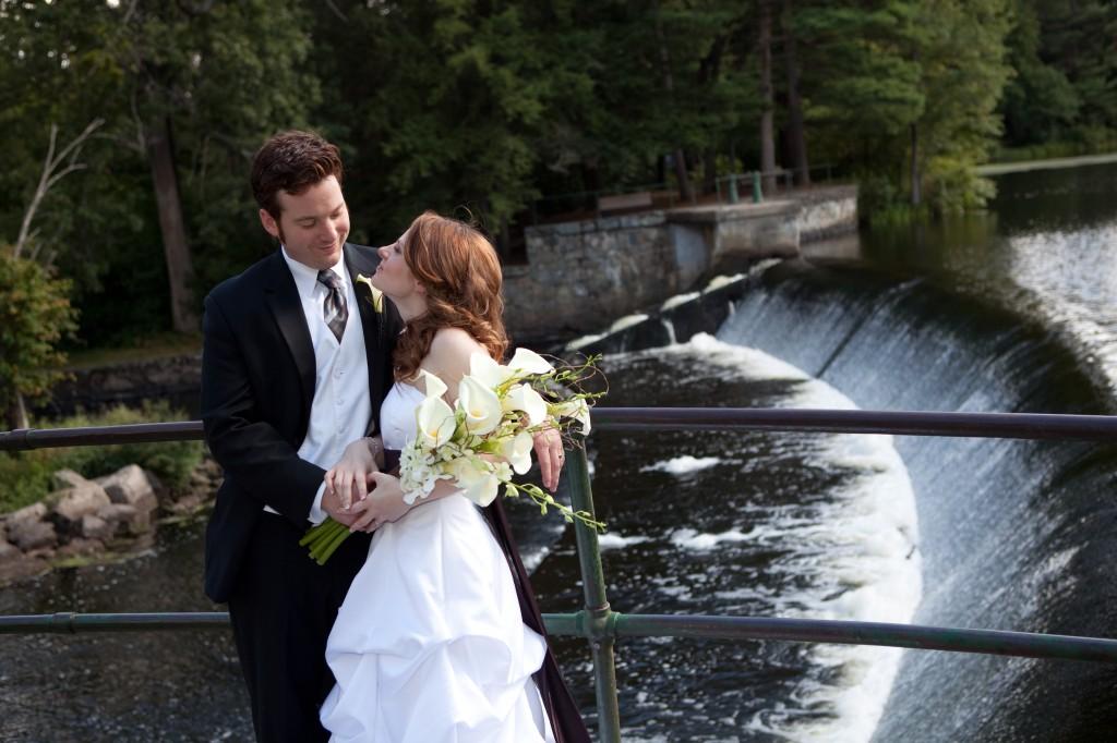 natick falls wedding photo