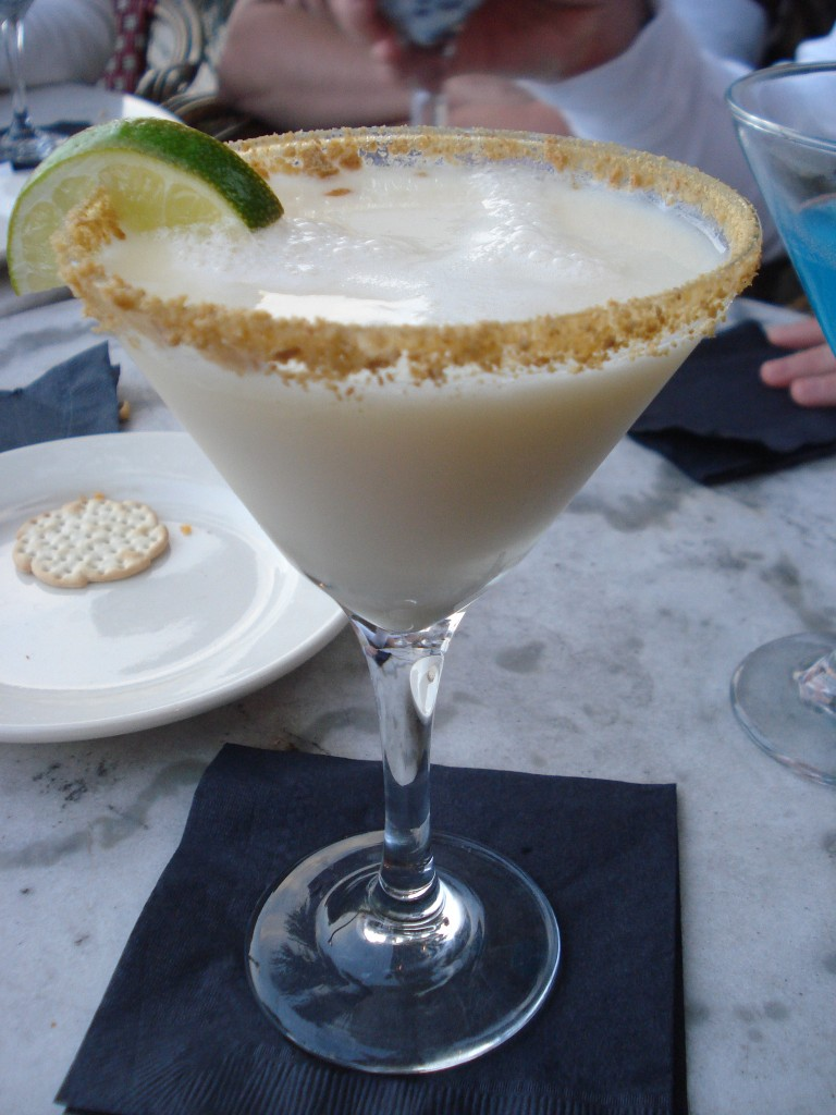 key lime martini at tini martini bar