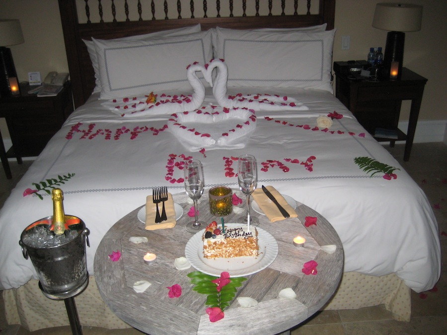 birthday at sandals