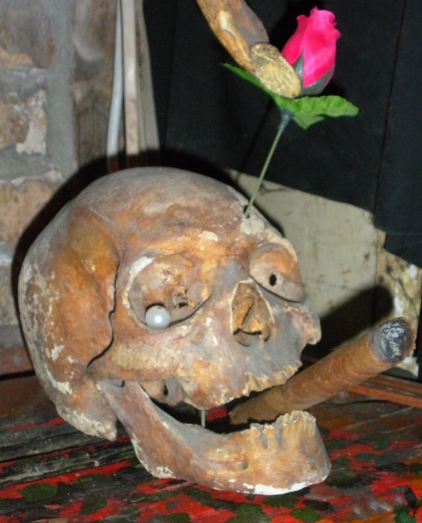 Skull in voodoo museum
