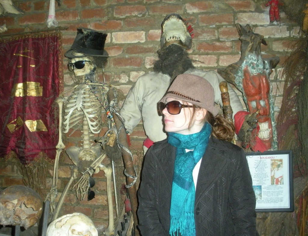 skeleton in the voodoo museum