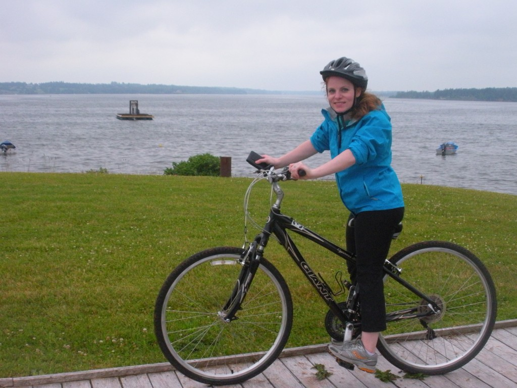 Biking in georgetown, pei