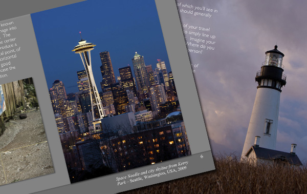 Travel photography book, space needle