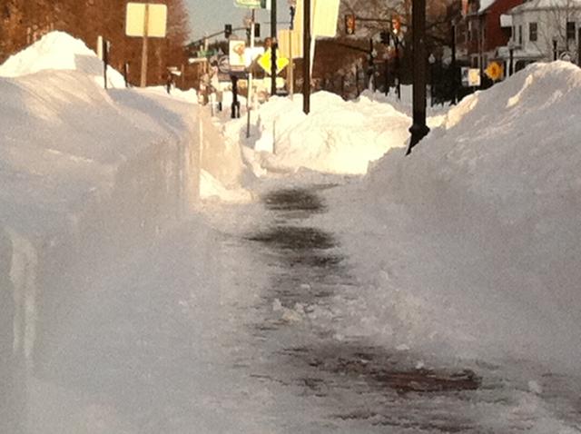 Blizzard sidewalk