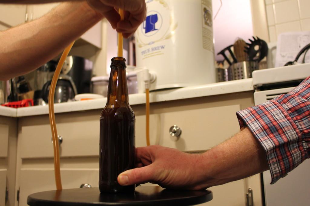 siphoning beer
